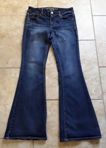 American Eagle Boho Flare Stretch Jeans Size 8R